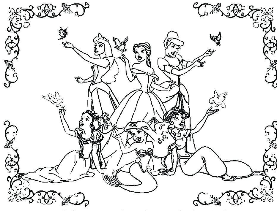932x711 Beauty And The Beast Characters Coloring Pages All Page