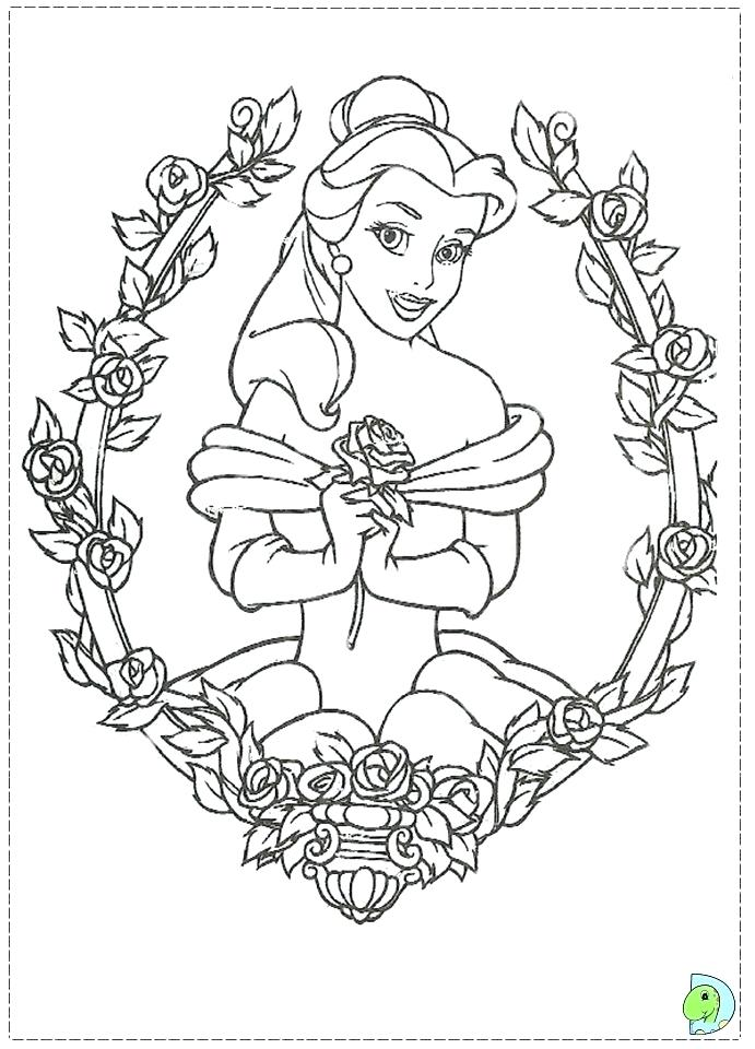691x960 Beauty And The Beast Characters Coloring Pages Page