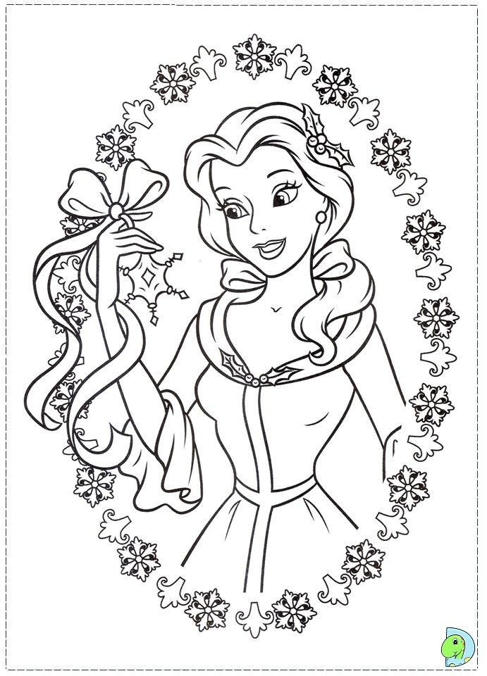 691x960 Beauty And The Beast Christmas Coloring Pages New Best