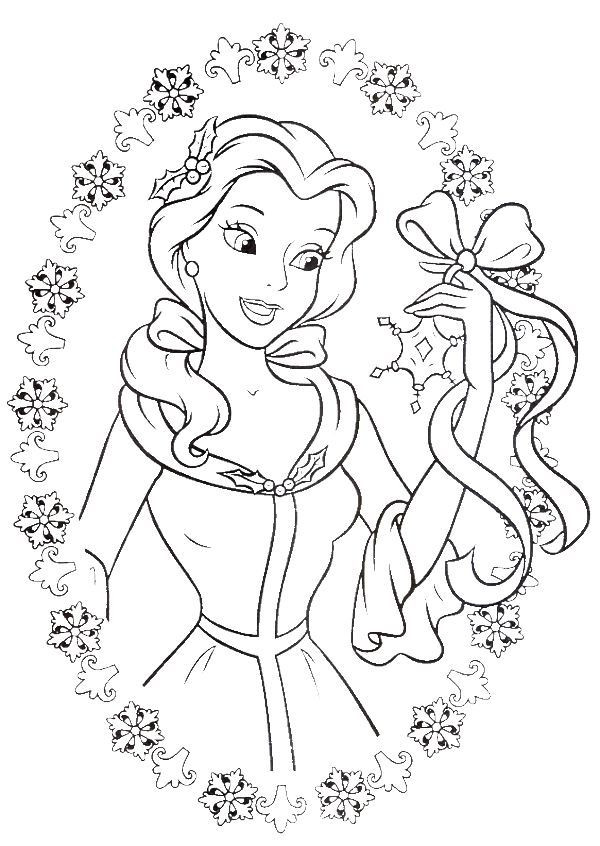 600x846 Beauty And The Beast Christmas Coloring Pages Unique Wedding