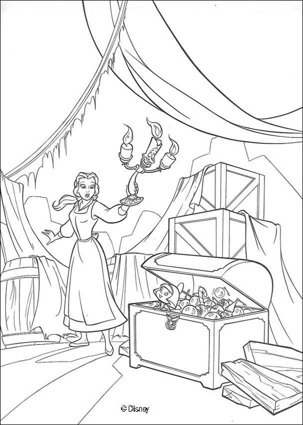 607x850 Belle Discovers The Christmas Chest Coloring Pages