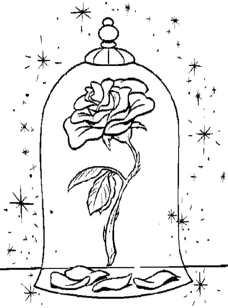 736x993 Coloring Pages From Disney Enjoyable Beauty And The Beast