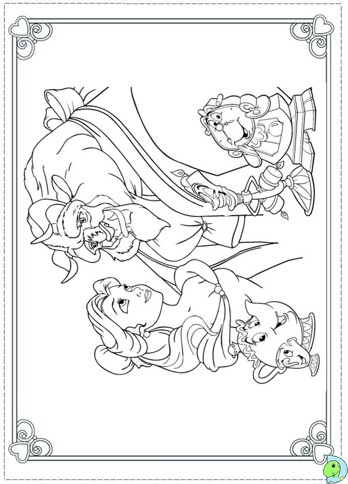 Beauty And The Beast Christmas Coloring Pages at ...