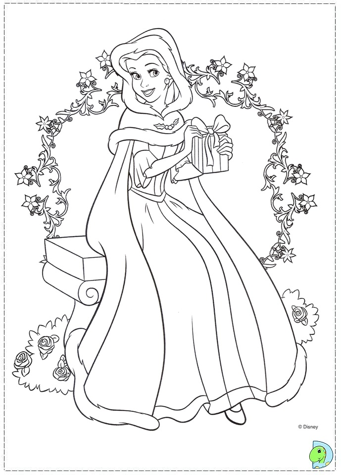 691x960 Disney Princess Christmas Coloring Pages