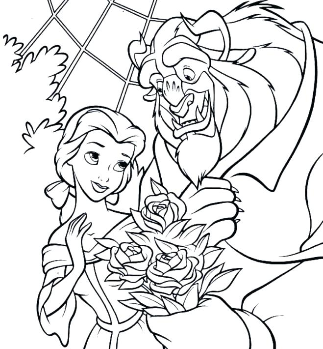 Beauty And The Beast Christmas Coloring Pages at GetDrawings.com ...