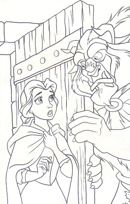 556x868 Beautynd The Beast Colouring Pages Free Belle Wants