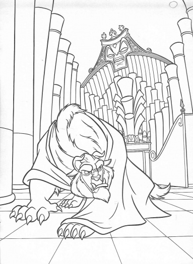 383x525 Beauty And The Beast Enchanted Christmas Coloring Pages Bgcentrum