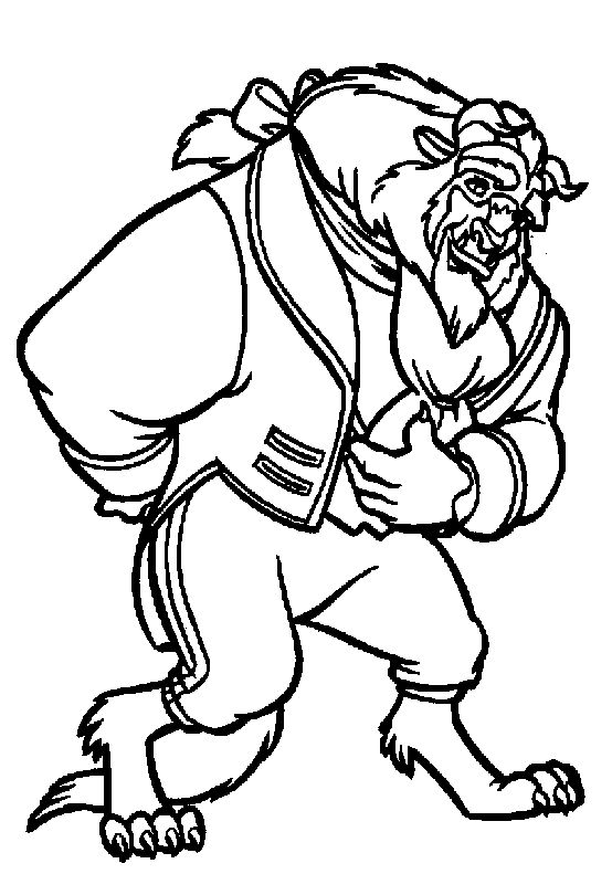 Coloring Page Beauty And The Beast Coloring Pages Free Printable