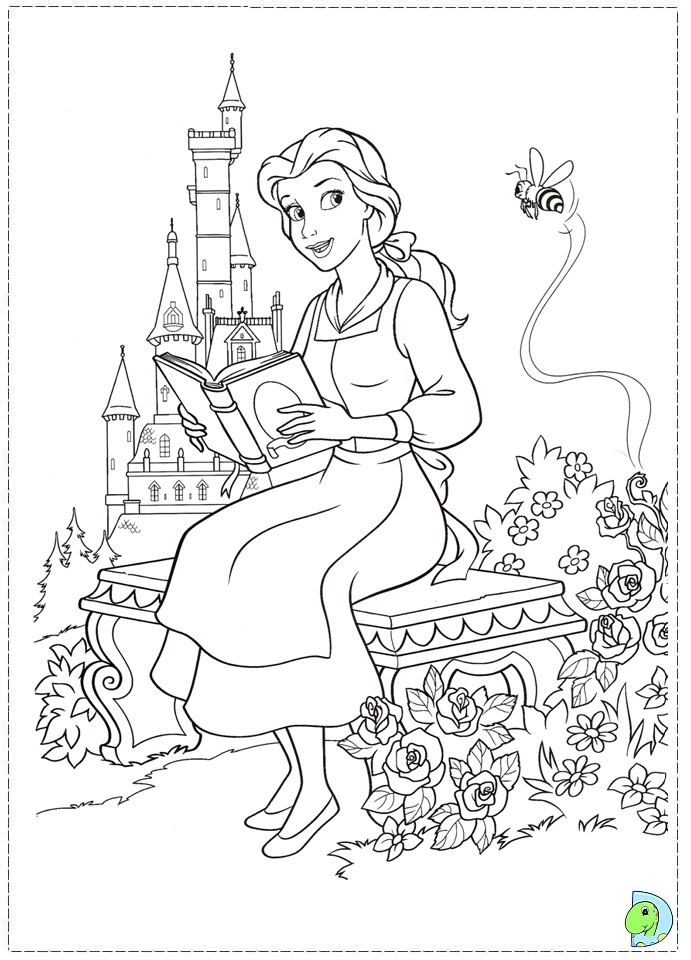 691x960 Beauty And The Beast Coloring Pages Disney Beauty And The Beast