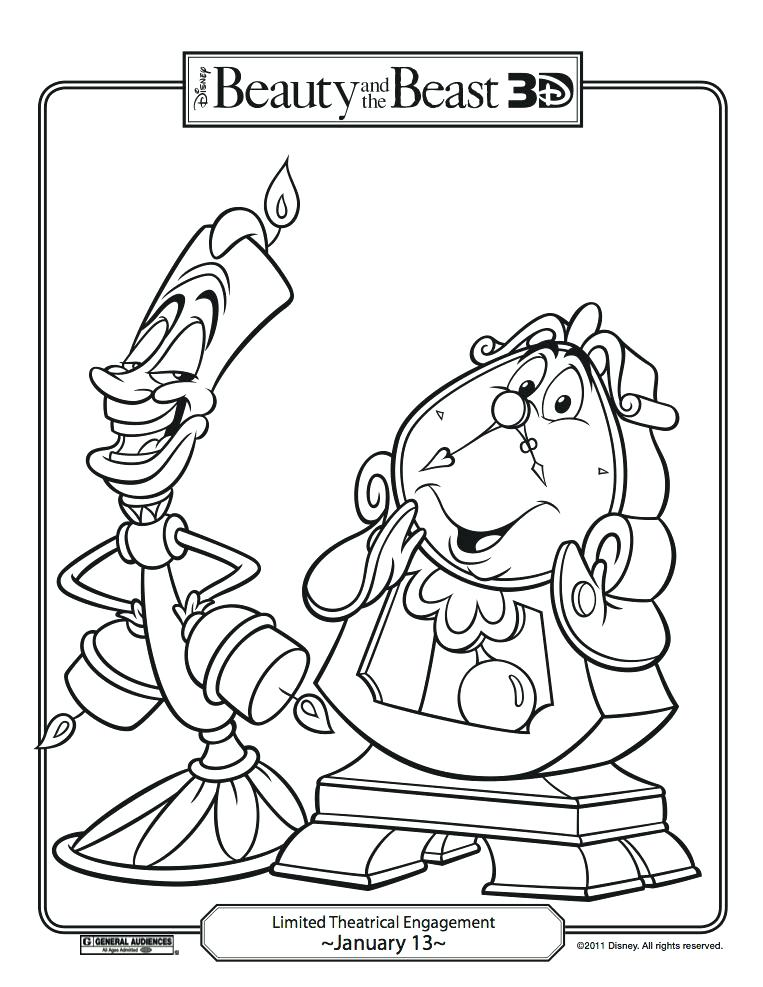 763x987 Beauty And Beast Coloring Pages On Coloring Beauty