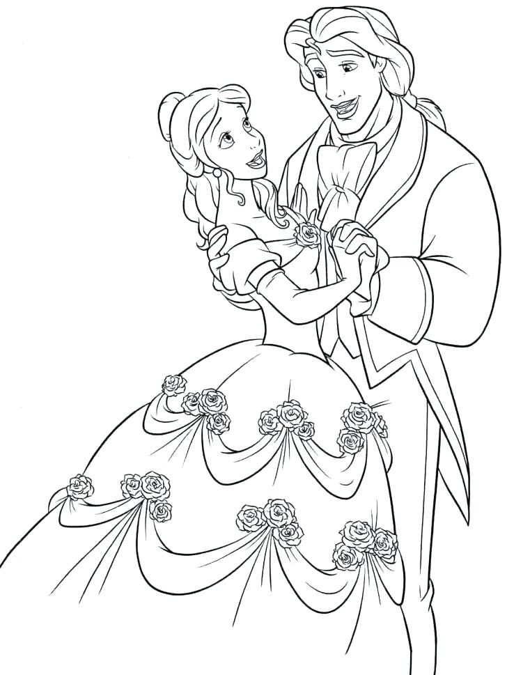 728x969 The New Beauty And The Beast Coloring Pages