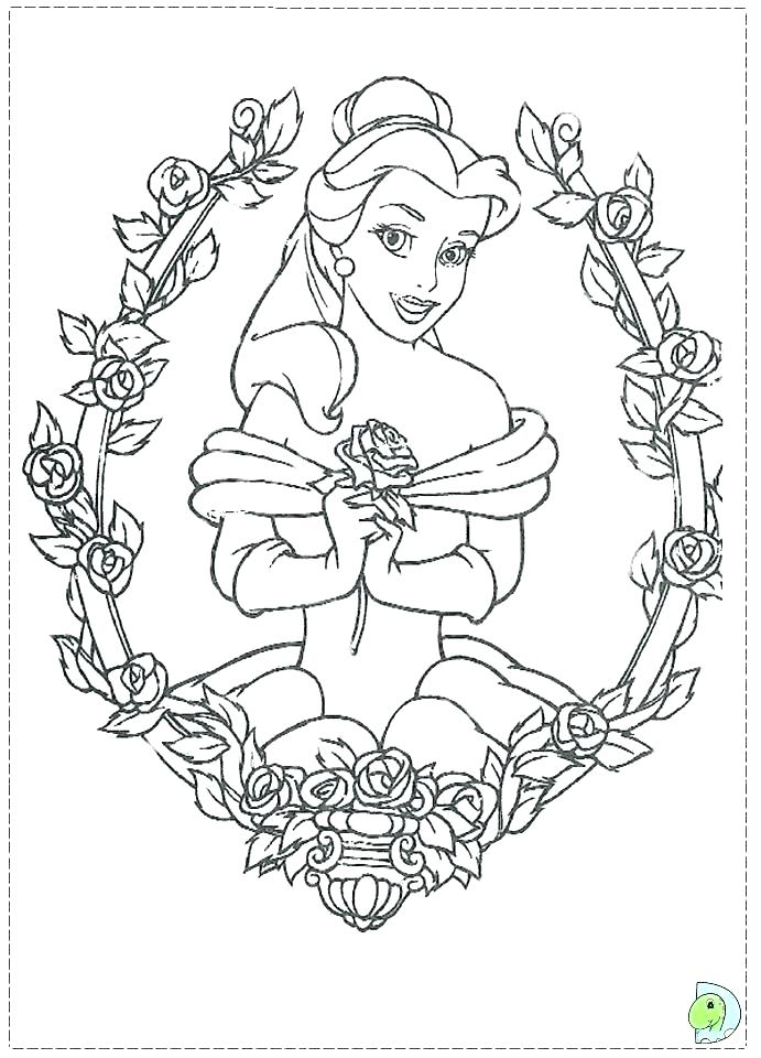 691x960 Beauty And The Beast Coloring Page Belle Teach The Beast How