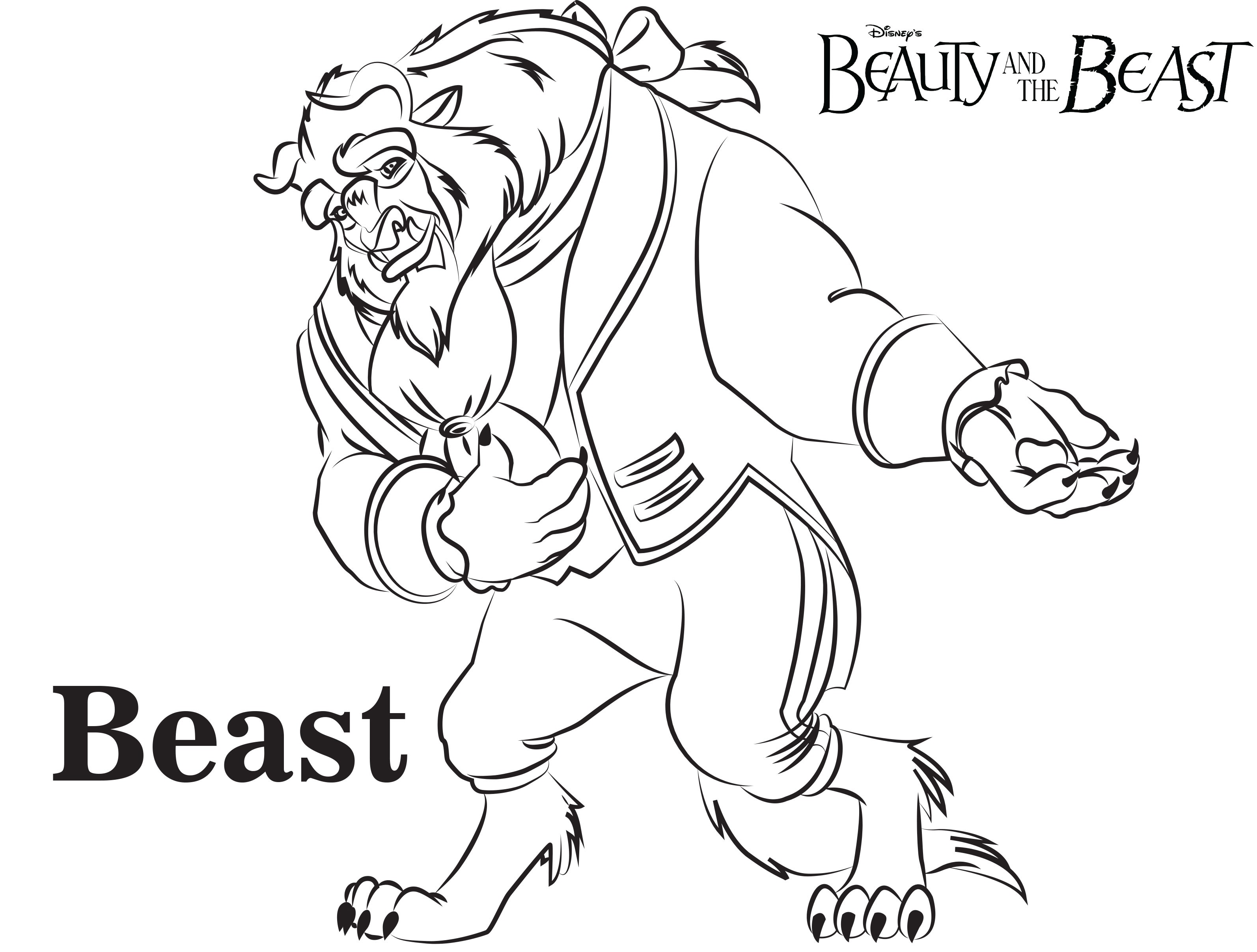 3188x2415 The Beast Practice Coloring Pages For Kids