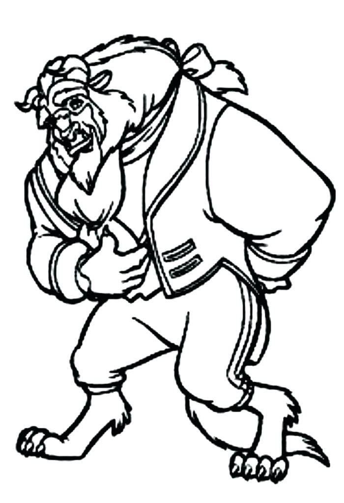 700x1024 Beauty And The Beast Coloring Beast Free Coloring Pages Beast