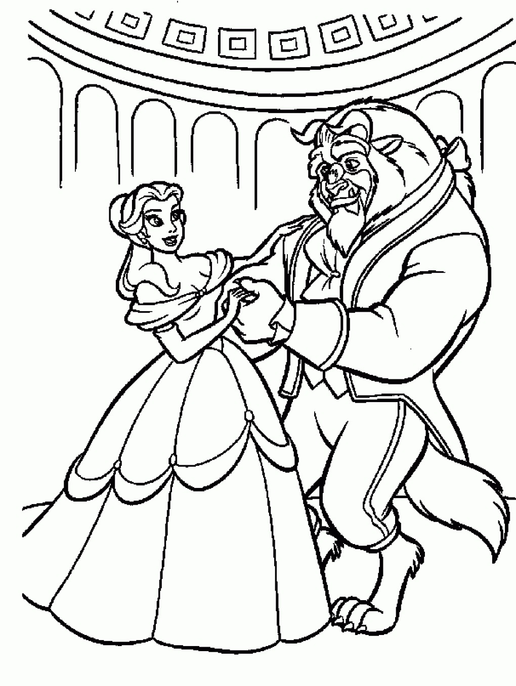1020x1358 Beauty And The Beast Printable Coloring Pages Lovely Rose Page