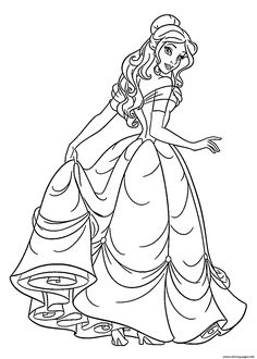 236x330 Beauty And The Beast Color Page Coloring Pages For Kids