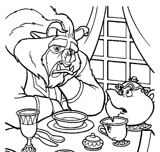 552x525 Belle Beauty And The Beast Colouring Coloring Pages