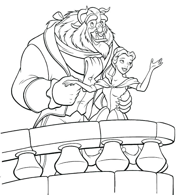 736x748 Coloring Pages Belle Beauty And The Beast Colouring Pages To Print