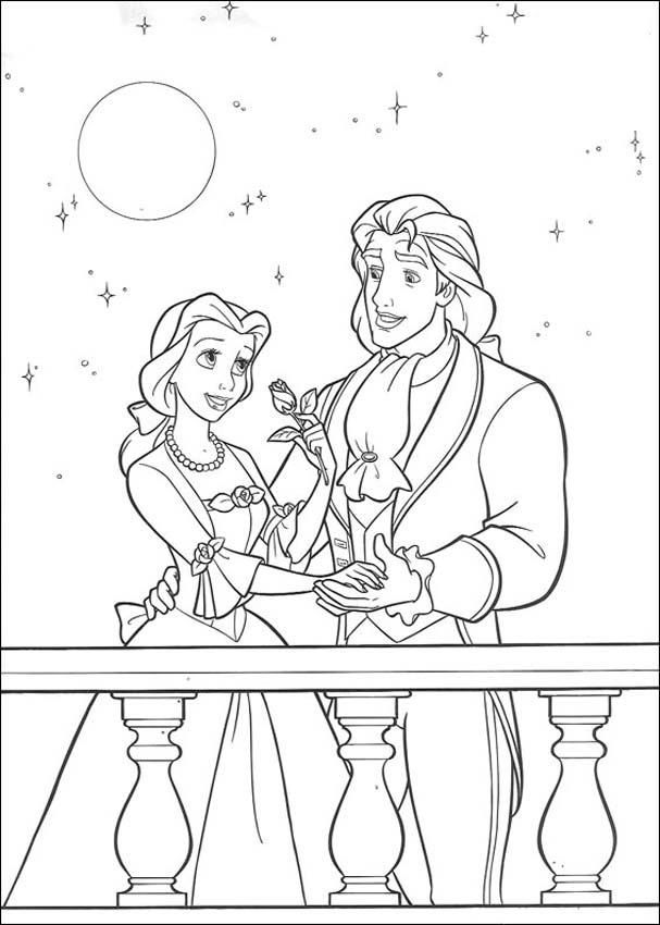 607x850 Free Printable Beauty And The Beast Coloring Pages For Kids