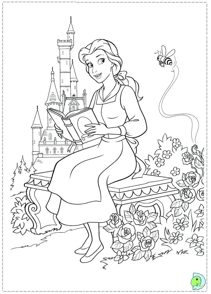 691x960 Beauty And The Beast Coloring Page Beauty And The Beast Coloring