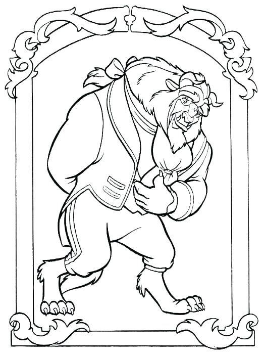 523x706 Beauty And The Beast Coloring Pages As Well As Belle