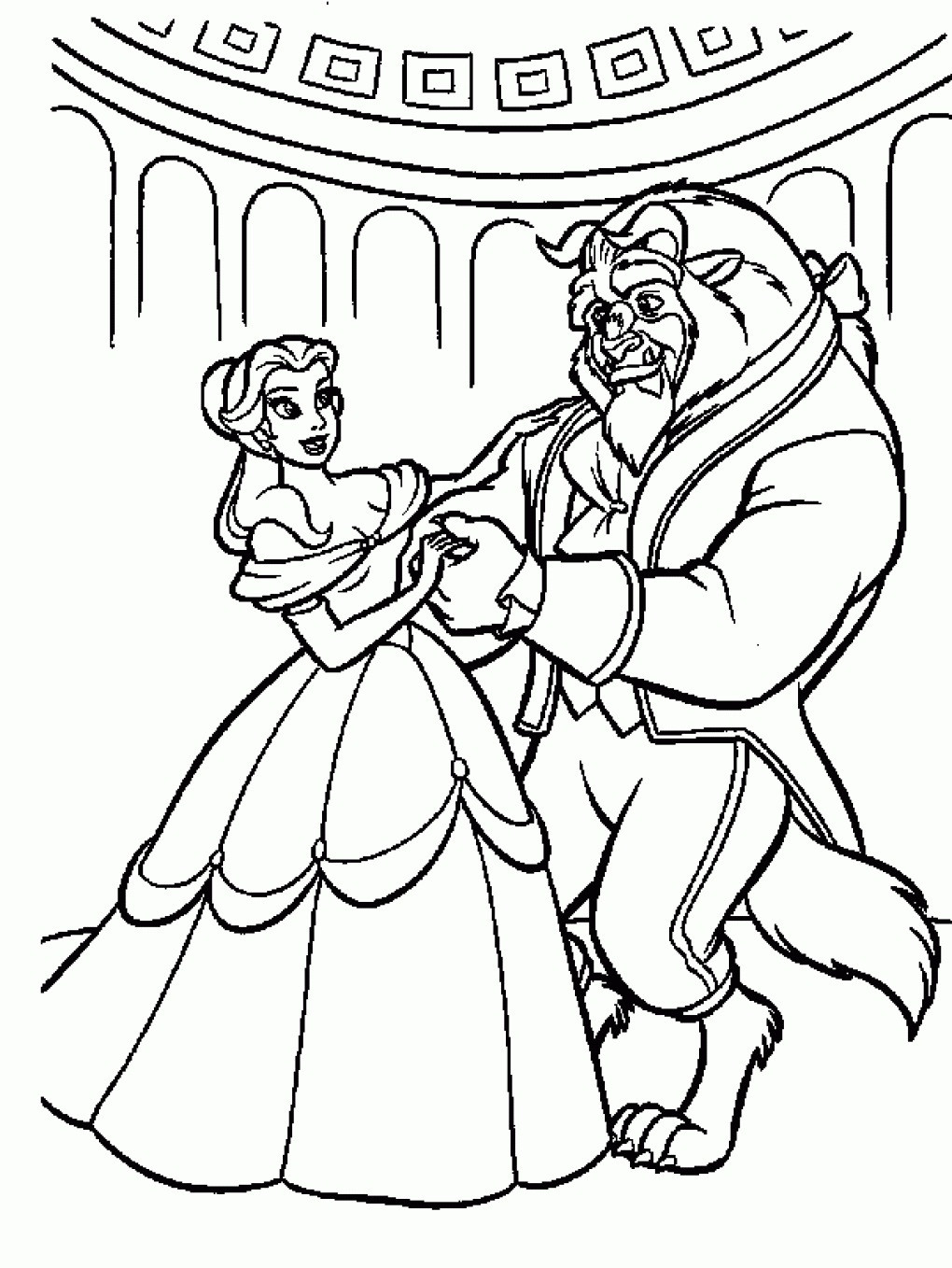 1020x1358 Beauty And The Beast Rose Coloring Page Printable Pages Me