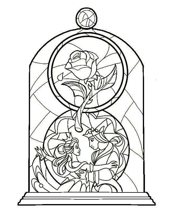 588x734 Beauty And The Beast Stained Glass Idea Colour Coming Soon