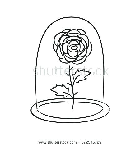 450x470 Coloring Page Rose Beauty And The Beast Coloring Pages Rose