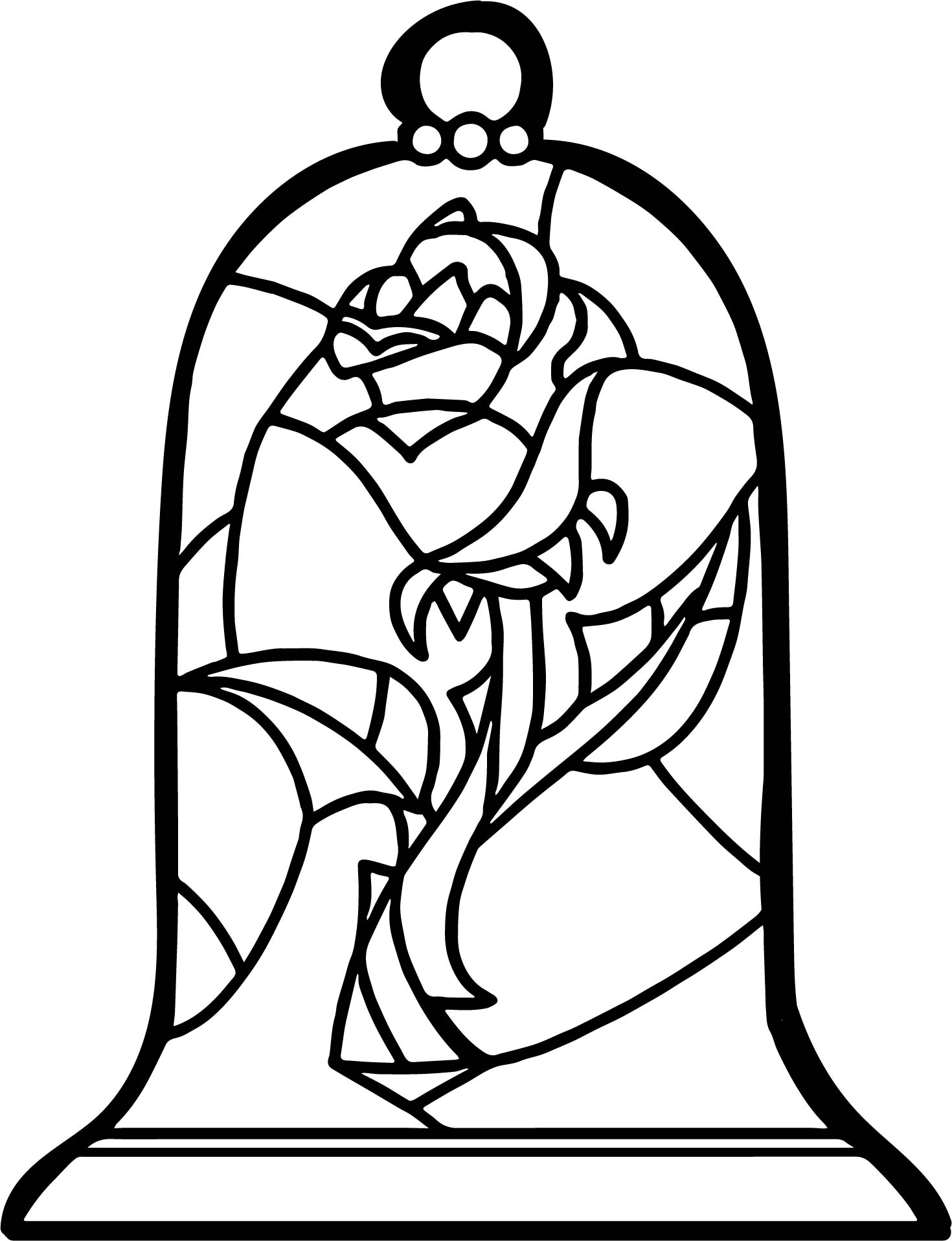 1470x1916 Stained Glass Rose Coloring Page Wecoloringpage