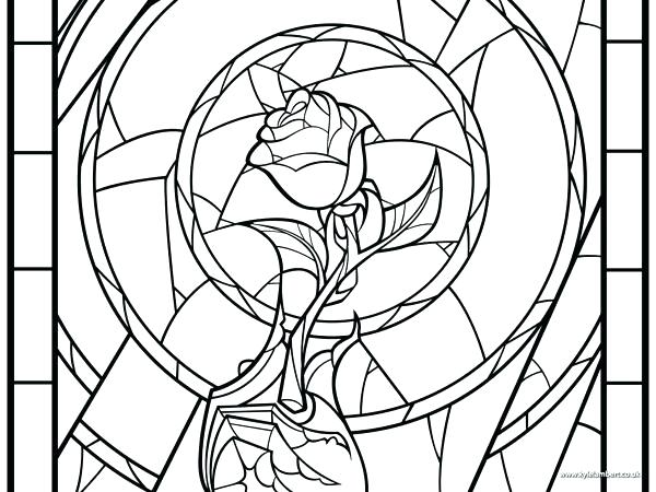 600x450 Window Coloring Page Beauty The Beast Window Coloring Page