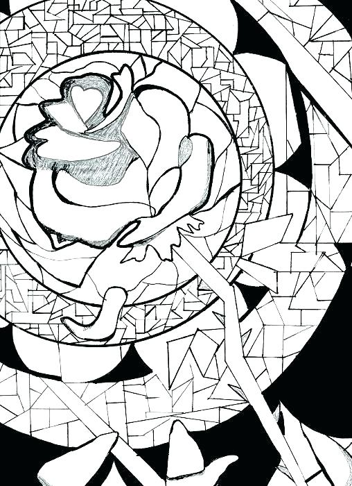 508x700 Beauty And The Beast Coloring Page Excellent Beauty And The Beast