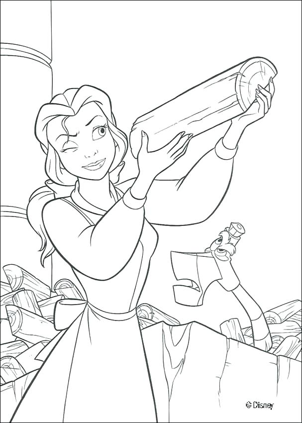 607x850 Beauty And The Beast Coloring Pages Beauty And The Beast Coloring