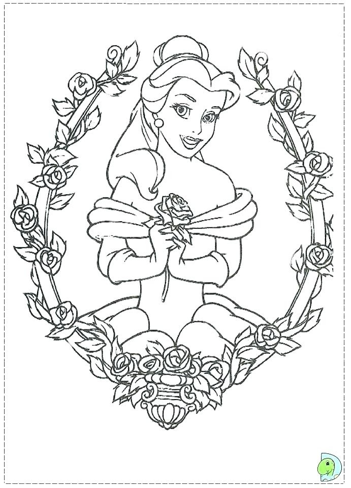 691x960 Beauty And The Beast Rose Coloring Page Bangalow Craft Ideas