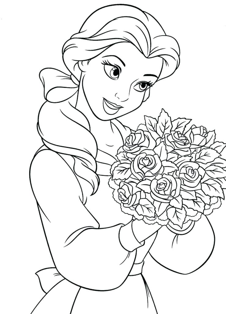 739x1024 Beauty And The Beast Coloring Pages Online Beauty And The Beast
