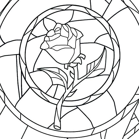 550x550 Beauty The Beast Rose Coloring Pages Coloring Page Beauty