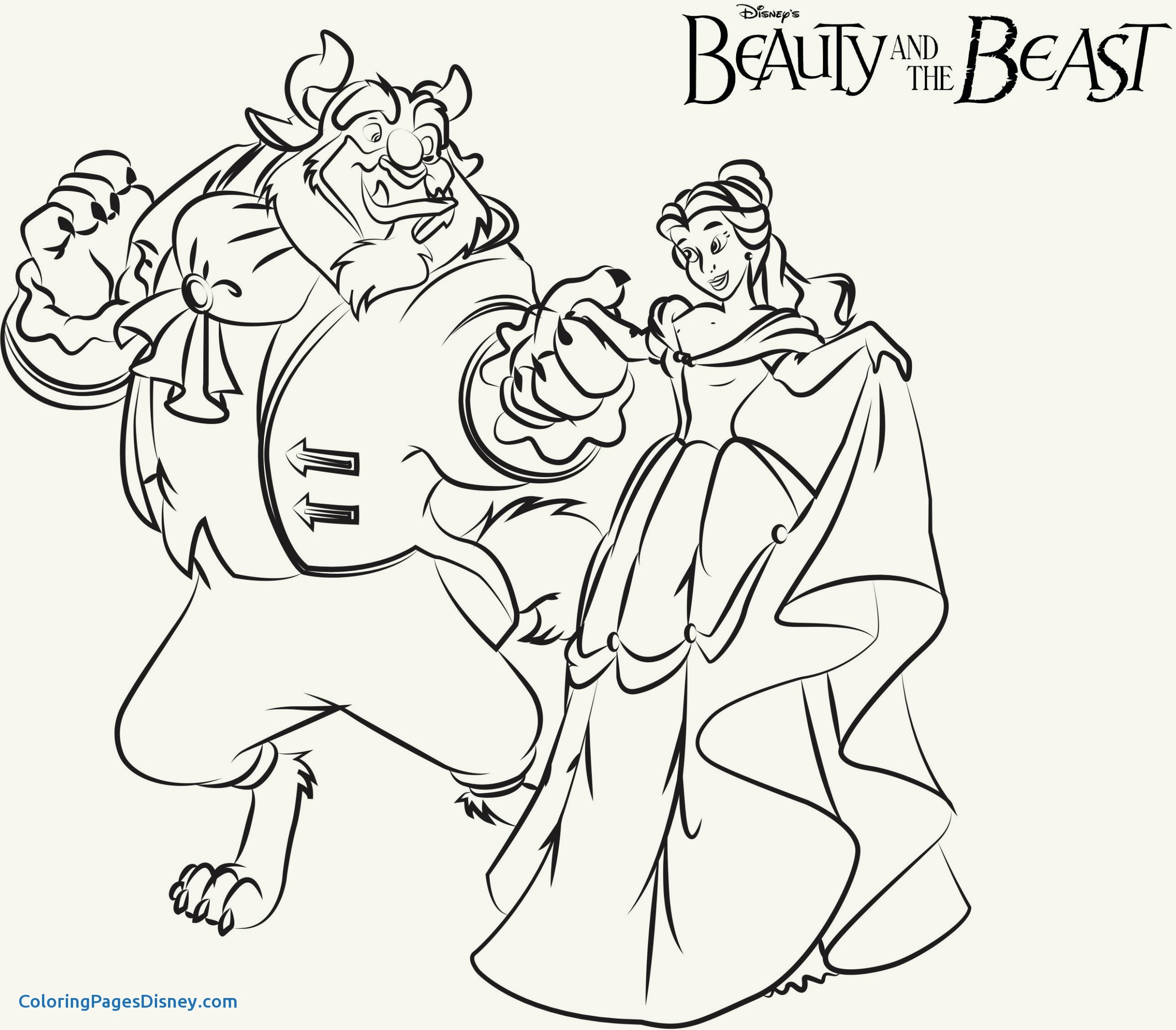 2575x2255 Beauty And The Beast Coloring Pages Inspirational Beautiful Beauty