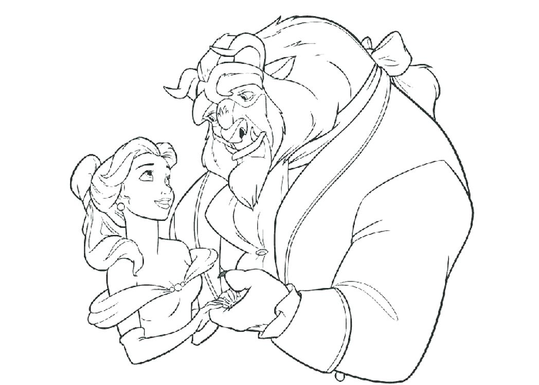 1048x749 Beauty And The Beast Coloring Beauty And The Beast Coloring