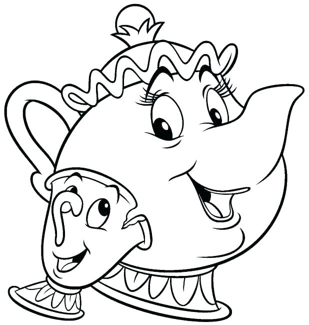 618x649 Beauty And The Beast Coloring Page Beauty And The Beast Coloring
