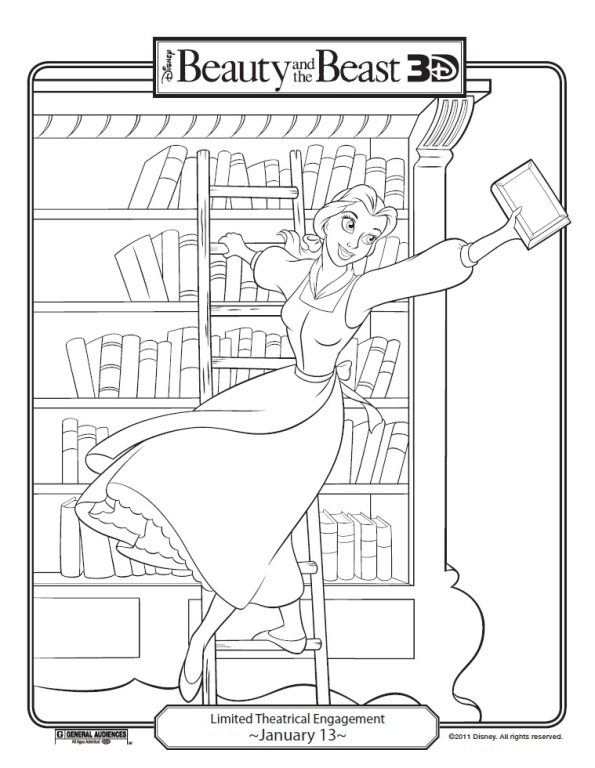 595x768 Beauty And The Beast Coloring Pages Belle Belle Touches Beast
