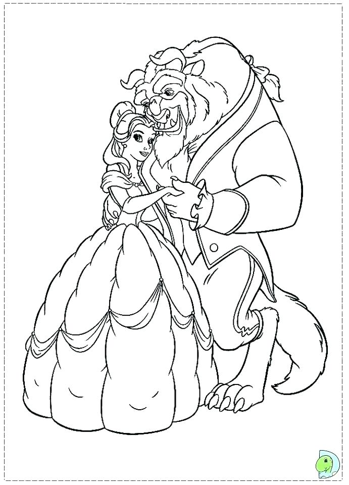 691x960 Beauty And Beast Coloring Pages Coloring Fun With Beauty