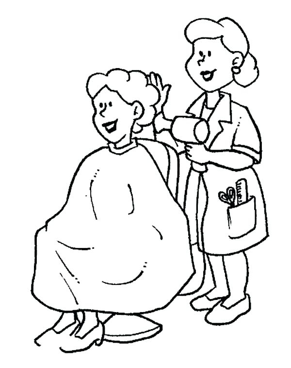 600x757 Hair Salon Coloring Pages Extraordinary Hair Salon Coloring Pages