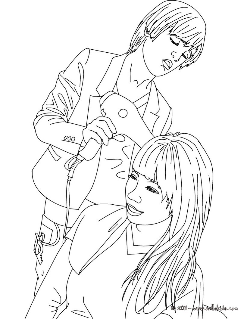 820x1060 Hair Salon Coloring Pages Hairstyle Hellokids Com In Inside