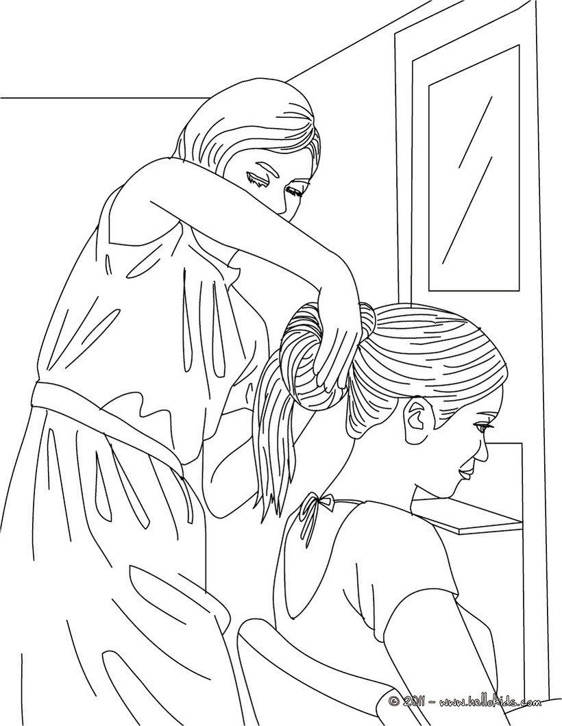 820x1060 Hair Salon Coloring Pages
