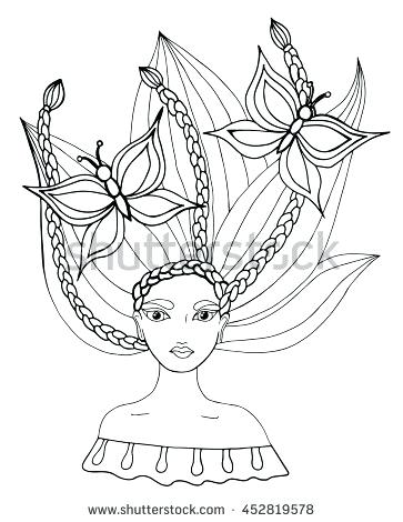 363x470 Hair Salon Coloring Pages