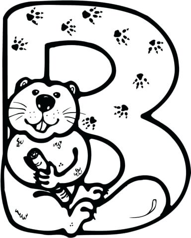 385x480 Beaver Coloring Page Click To See Printable Version Of Letter B Is