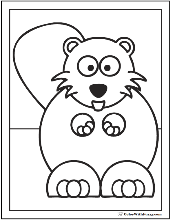 590x762 Beaver Coloring Pages Beaver Dams And Habitat