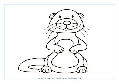 460x325 Beaver Colouring Pages
