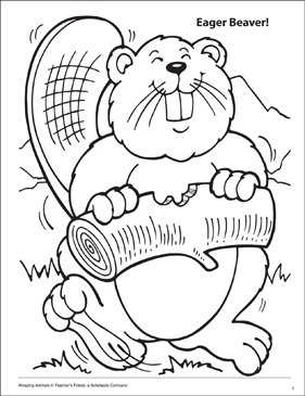 281x365 Eager Beaver! Amazing Animals Coloring Page Printable Coloring Pages
