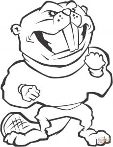 230x300 Funny Beavers Coloring Pages