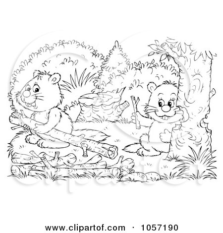 450x470 Royalty Free Clip Art Illustration A Coloring Page Outline